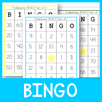 graphic regarding Factor Game Printable called Multiplication BINGO - Royal Baloo