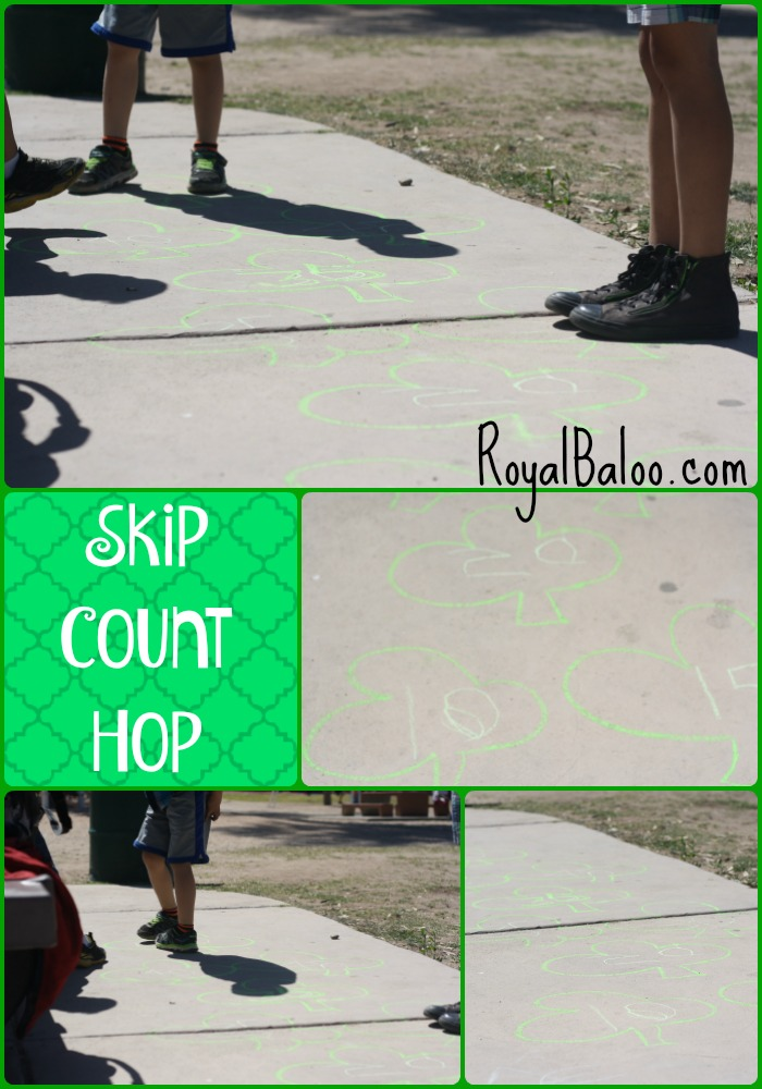 Shamrock Skip Count Hop - practice skip counting in a fun and active way!