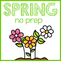 Spring No Prep First Grade Math!