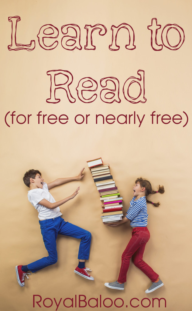 Learn to Read for Free or Nearly Free - List of learning to read resources that won't break the bank!
