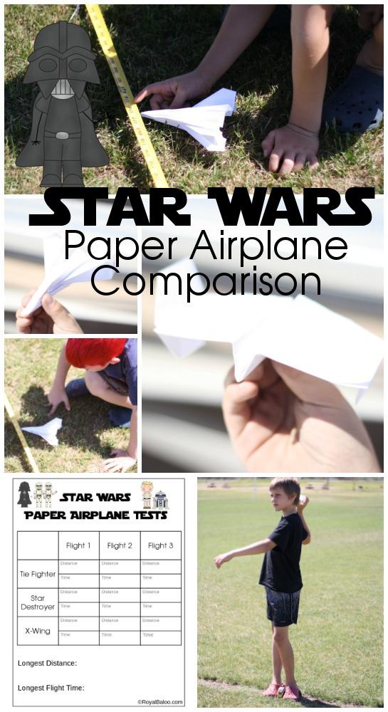 Star Wars Paper Airplane Comparison
