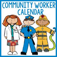 Community Helpers Calendar Cards