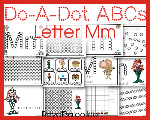 Free do a dot letter pages!  Learn the letter Mm with fun dot markers or bingo daubers.