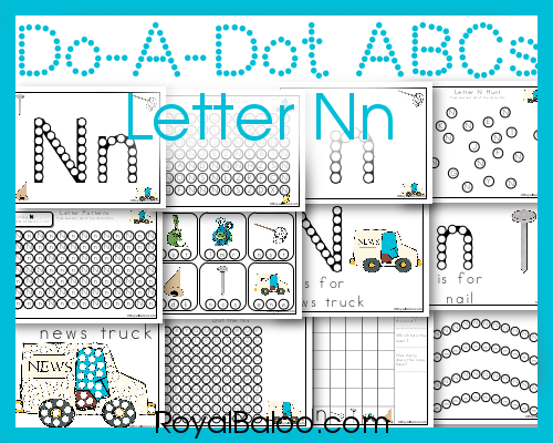 Do a Dot Pages for Letter Nn! Learn the letters with fun dot marker pages! Free!