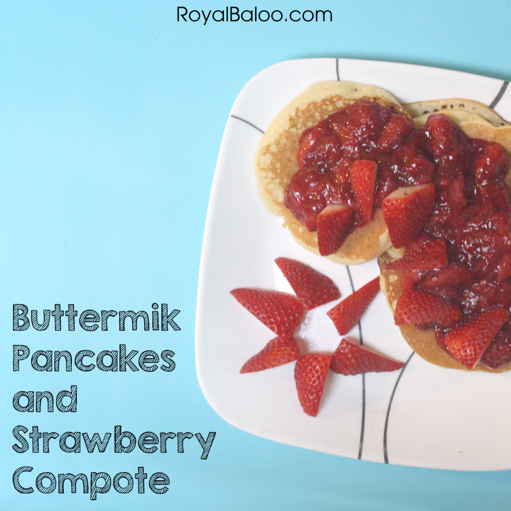 Recipes for KIDS to Make: Buttermilk Pancakes and Strawberry Compote