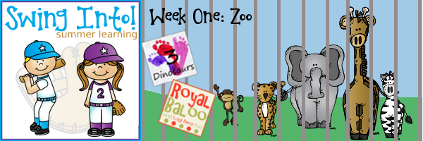 Swing In To Summer Learning Week 1!  Zoo Theme