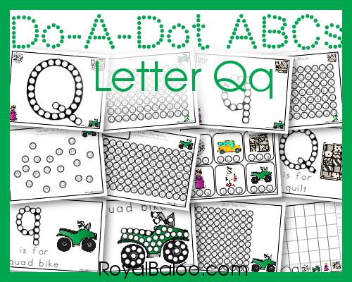 Do A Dot ABCs Letter Qq