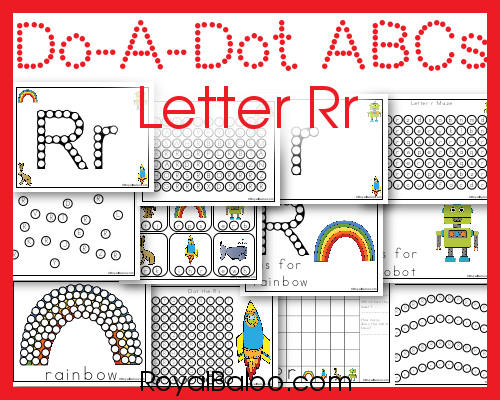 Free Dot Marker ABCs Printables for Letter Rr