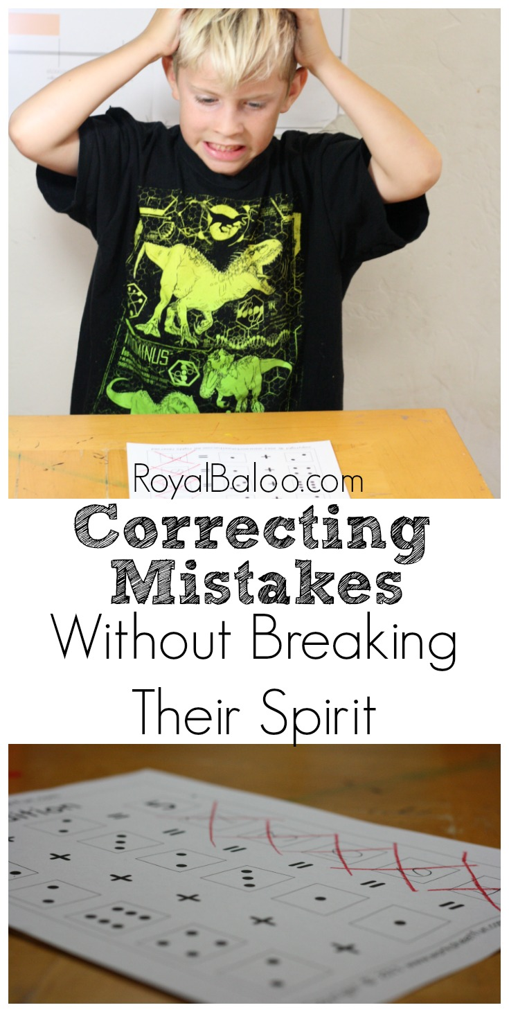 7 Tips for Correcting Kid's Mistakes