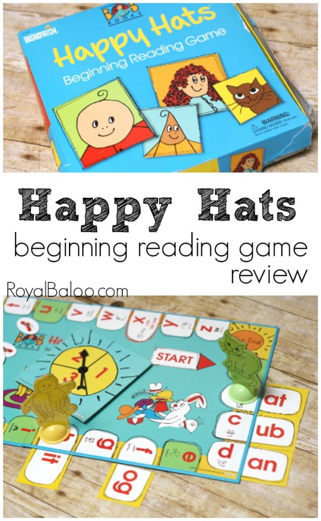 Beginning Reading Game for CVC words - Happy Hats game by BOB Books.  Also includes a tweak to use with older kids!