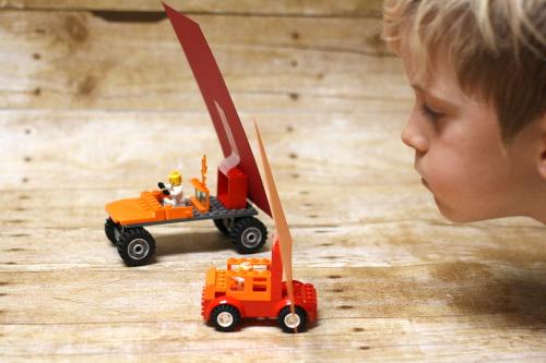 LEGO Brick Wind Car Races