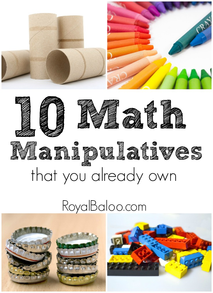 10 Amazing Math Manipulatives You Already Own. Find manipulatives for math in your house, just waiting to be used!