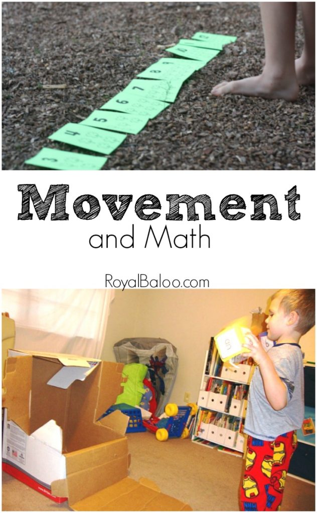 5 ways to get moving and learn math! Great for the math wiggles!