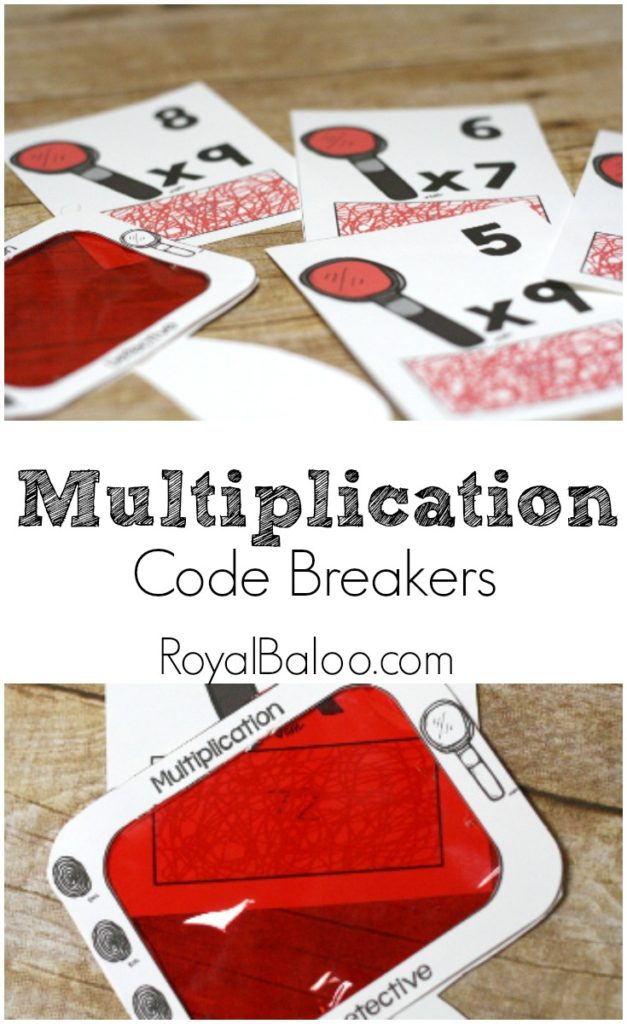 Free and fun Multiplication practice with these printable multiplication code breakers!