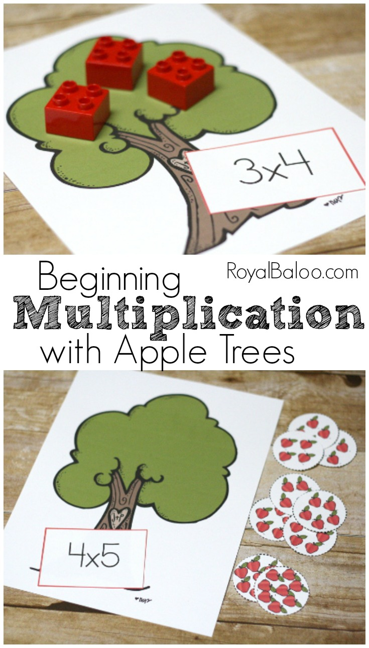 Learn Multiplication Free with an Apple Theme