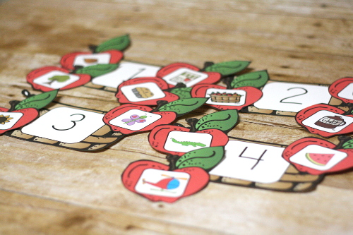 Free Apple Syllable Sorting Game