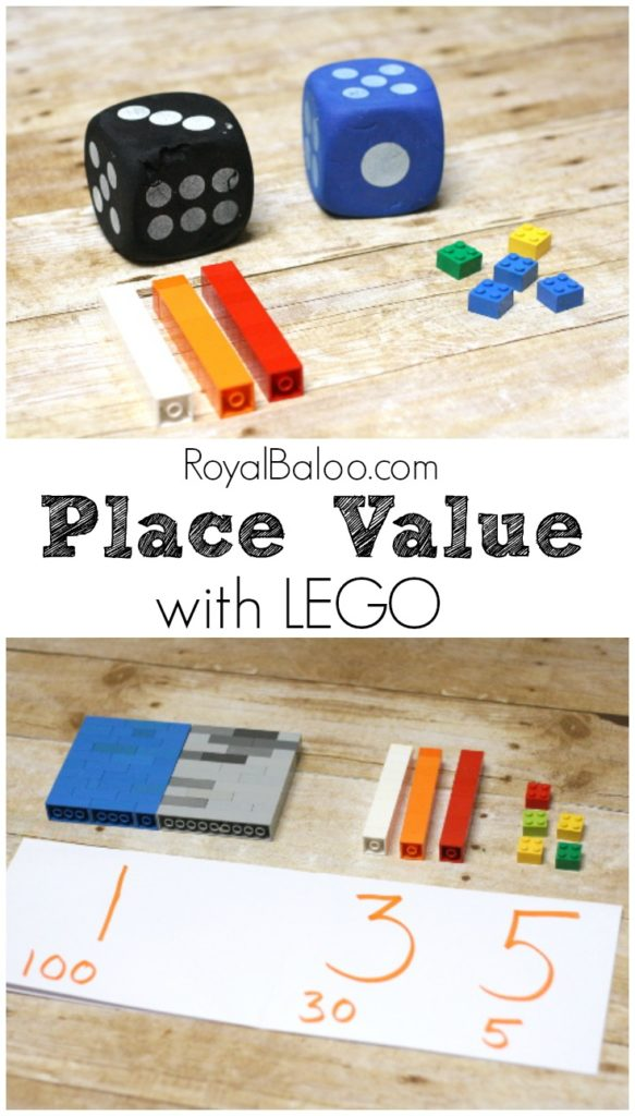 LEGO Place Value! Learn Place Value with LEGO Bricks. In an effort to reduce clutter, we're only using LEGO for manipulatives now. This LEGO system is a great introduction to place value@