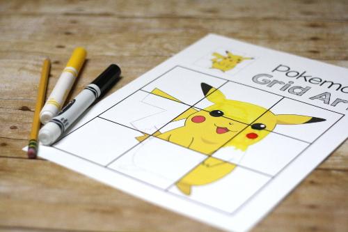 PikachuPokemonGridArt