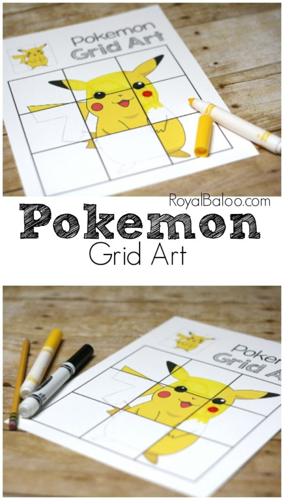 Practice writing with Pokemon! Build the fine motor strength with a fun activity - like grid drawing with Pokemon!