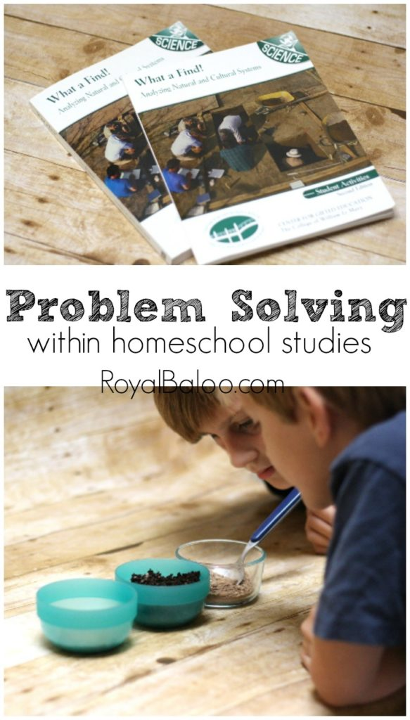 Problem Solving within Homeschool Studies. A gifted science curricula from William & Mary (Kendall Hunt) that works on problem solving skills.