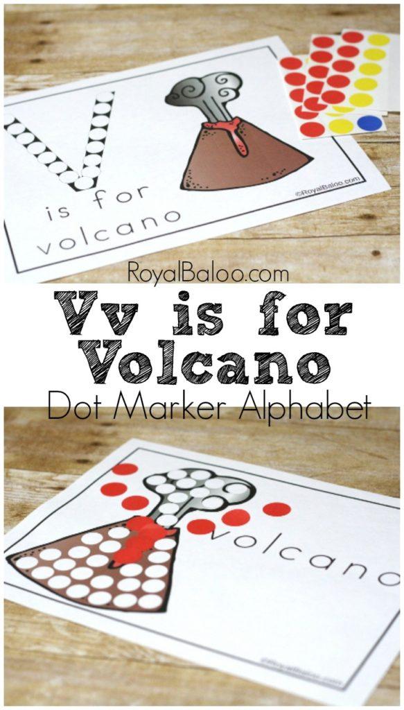 Letter Vv Dot Marker Printables from the Dot Marker Alphabet free printable series.