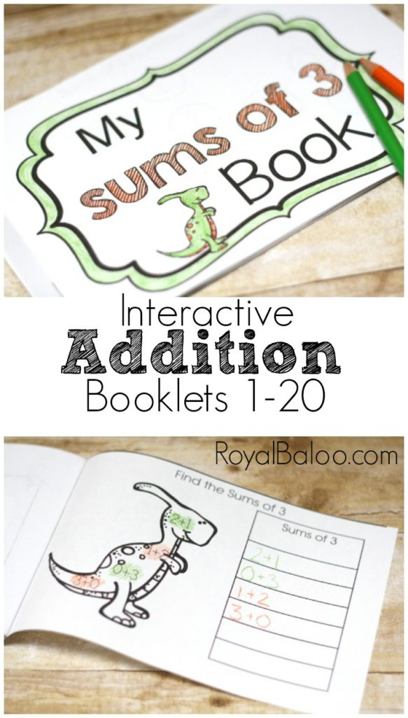 Interactive Addition Booklets for Sums of 1-20.  These fun addition practice books are sure to get most kids sitting and practicing addition!