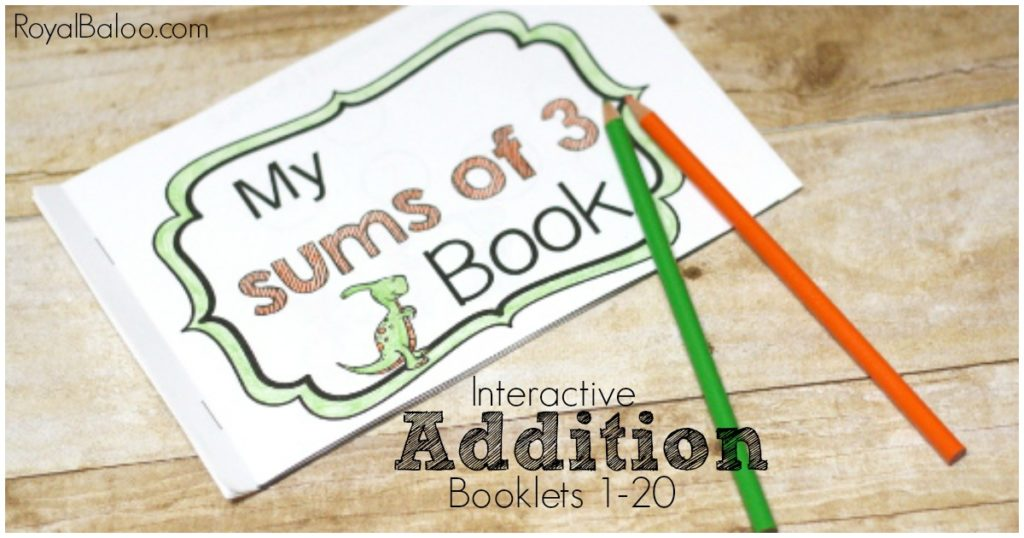 Interactive Addition Booklets for Sums of 1-20.  These fun addiction practice books are sure to get most kids sitting and practicing addition!