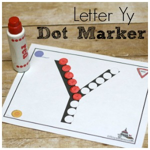 Exciting Letter Yy Dot Marker ABC Printable Set