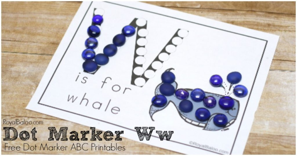 Learn the ABCs with fun dot marker ABC printables!  Letter Ww is up for free now!