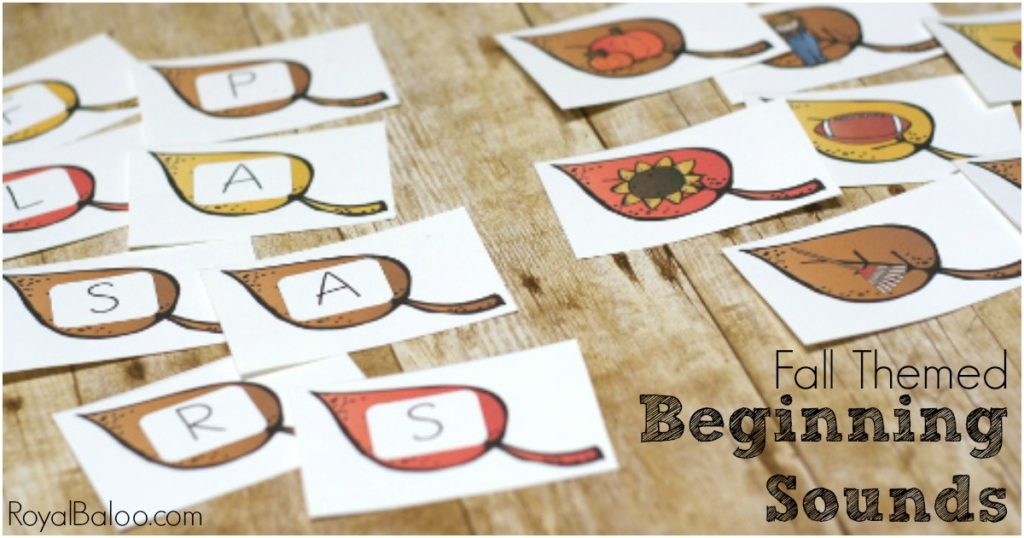 Fall Beginning Sound Printable Leaves. Free printables to practice isolating that first letter sound.