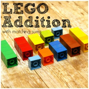 LEGO Sums Simple Addition Activity