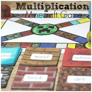 photo regarding Multiplication Game Printable known as Multiplication Prepare with Minecraft Multiplication Activity