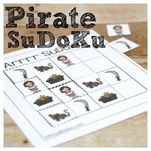 Pirate SuDoKu – Pirate Fun with Free Printables