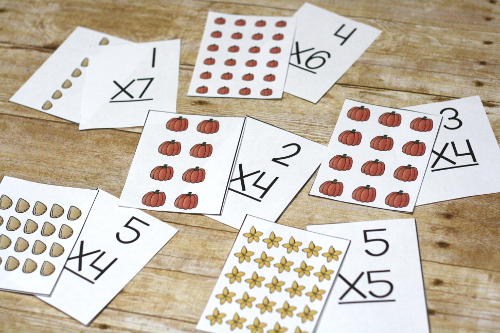 Pumpkin Array Free Printable. Practice multiplication with these fun fall and pumpkin themed printables!