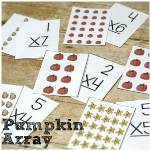 Pumpkin Array Printable for Multiplication Practice