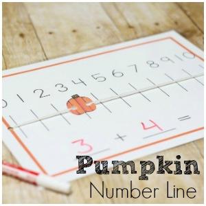 Pumpkin Number Line: Hands On Math