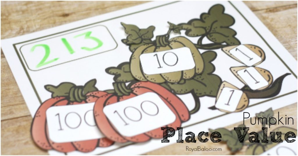 Practice place value with this free Pumpkin Place Value set!  Addition, subtraction, and counting practice!