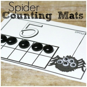 Spooky Spider Counting Mats for Math Practice