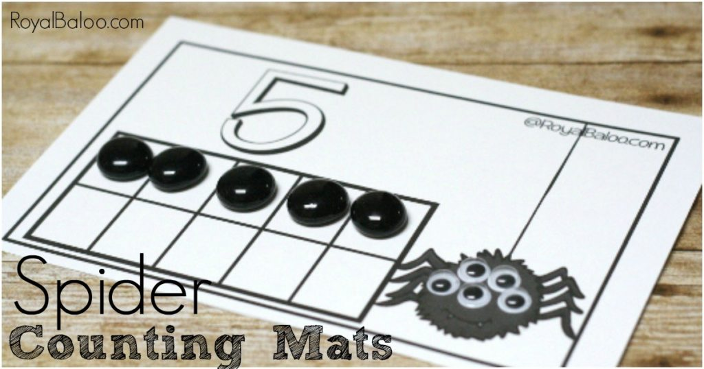 Spider Counting Mats. Free! Great for counting, number sense, addition, subtraction, and more! Just in time for Halloween!