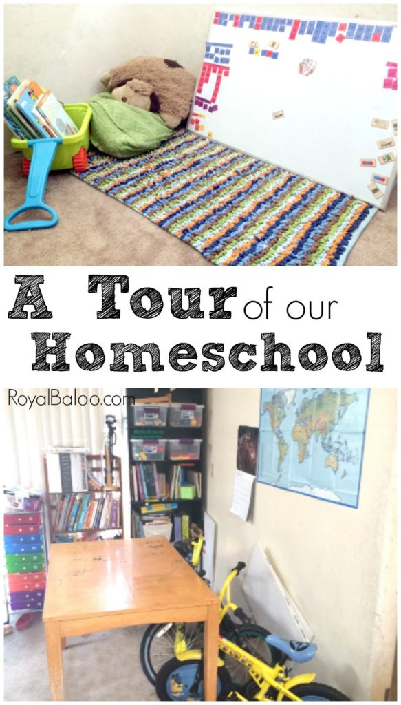 Come see how we make our small homeschool room work!  Tables, desks, bikes, reading corner...we do what works!