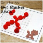 Xx Dot Marker Alphabet Printable Set