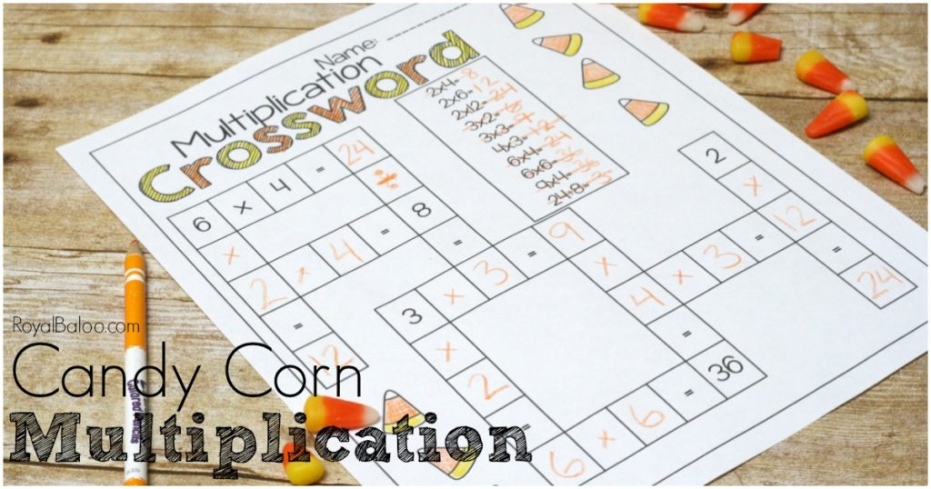 No Prep Candy Corn Multiplication Packs. Beginning multiplication to more advanced multiplication.