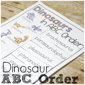 Make ABC Order more interesting and exciting with free Dinosaur ABC Order printables!