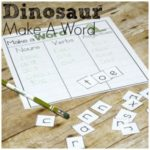 Dinosaur Make a Word Printable for Easy Writing Practice