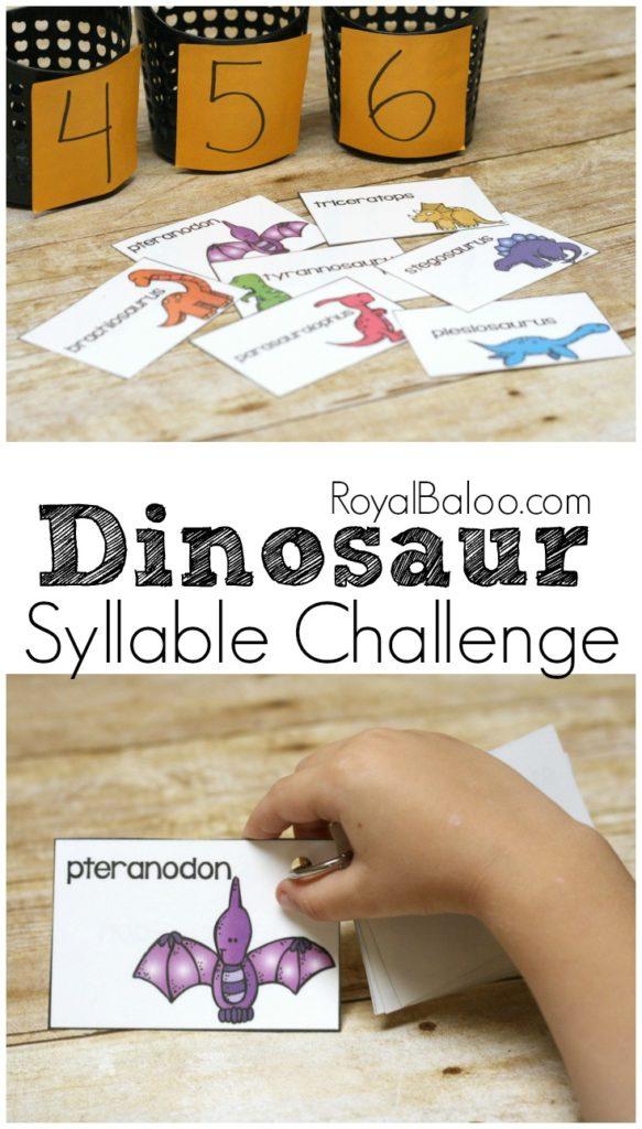 dinosaursyllablechallengelong