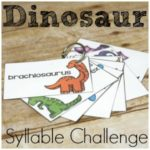 Dinosaur Syllable Challenge Cards for Kids