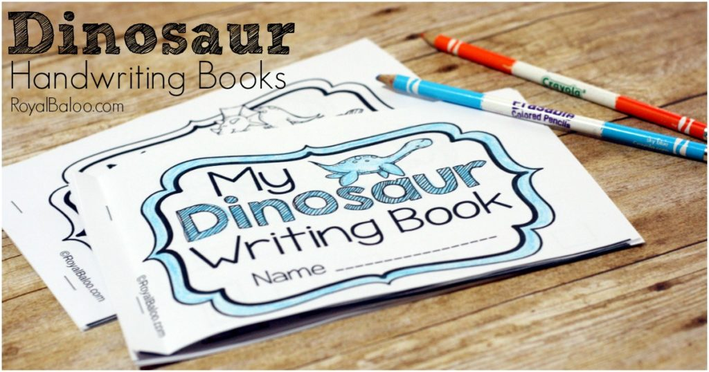 Dinosaur Handwriting Booklets for Learning to Write - Royal Baloo