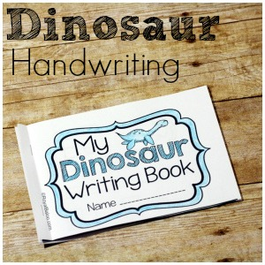 Dinosaur Handwriting Booklets for Learning to Write