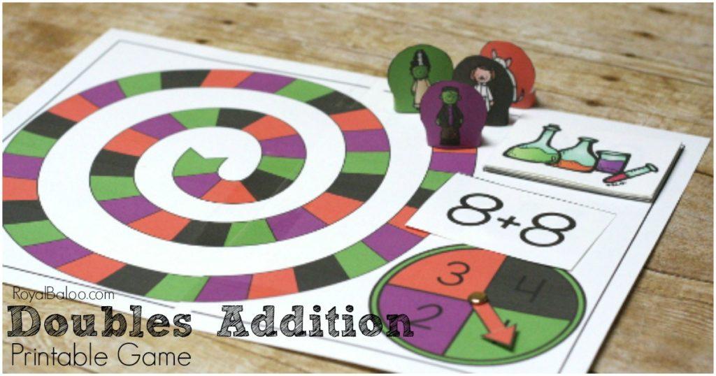 photo regarding Printable Addition Games called Doubles Addition Match - Frankenstein Addition Prepare