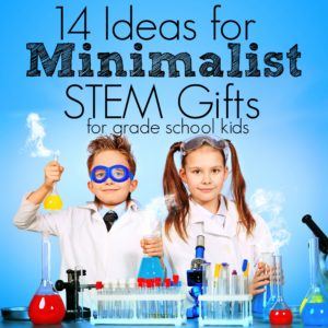 Trying to limit the clutter and live a more minimalist lifestyle? But birthdays, holidays, well-meaning family want to buy gifts. Here's a short guide on great minimalist gifts for STEM kids